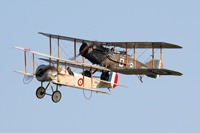 Bristol Scout and Bristol F2b at Old Warden