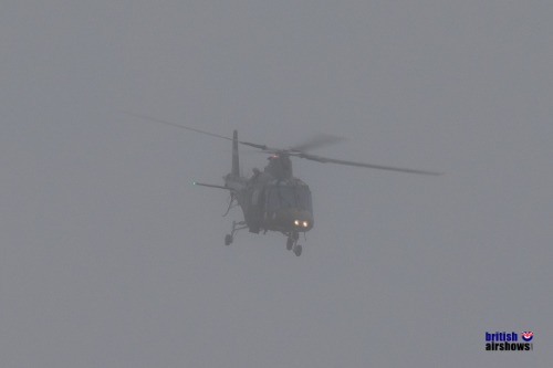 Belgian A109 emerging from the mist