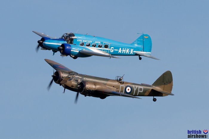 Anson and Blenheim at Old Warden