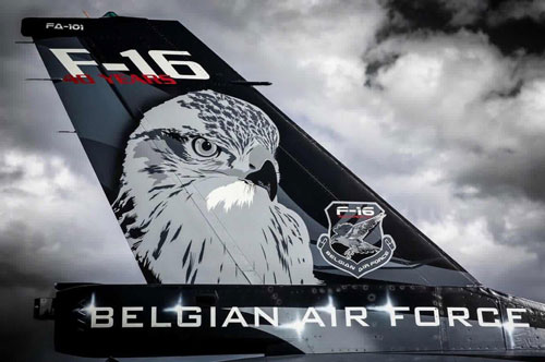 Belgian Air Force F-16 tail art