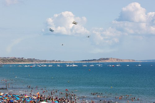 Great War Display Team over the bay