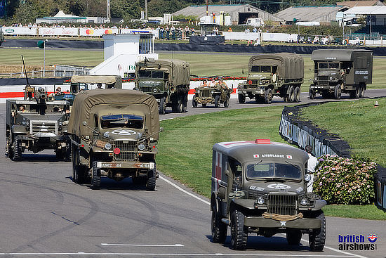 Military vehicles, Normany Commemoration, Goodwood Revival 2019
