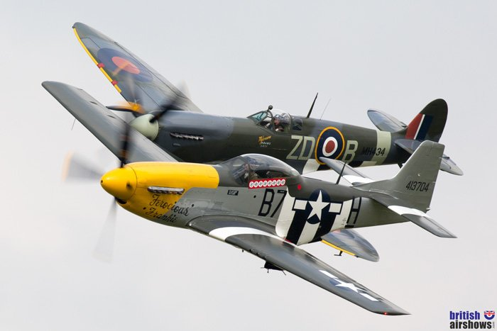 Spitfire Mustang pair