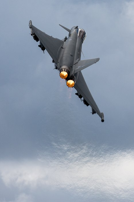 Typhoon just after take-off