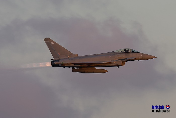 Typhoon at dusk