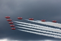 Red Arrows in Sunday's threatening sky